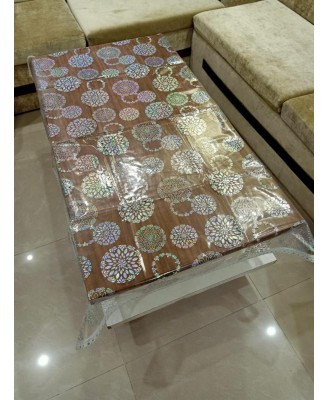 Center Table Cover - Designer PVC Table Cover - Size 40 * 60 inches