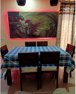 Dining Table Cloth - Size 60 * 90 Inches (Blue)