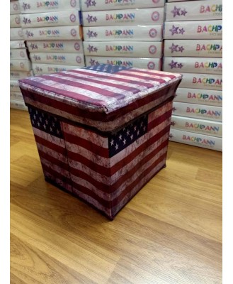 Foldable Kids Sitting Stool / Storage Box / Playing Toy