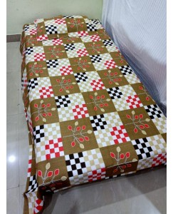 Pure Cotton Single Bedsheet with 1 Pillow Cover