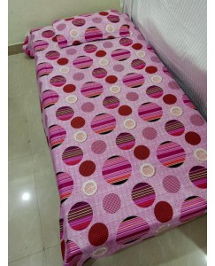 Bajaj Pure Cotton Single Bedsheet with 1 Pillow Cover-1