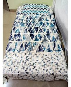 Designer Pure Cotton Single Bedsheet with 1 Pillow Cover