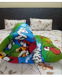 Angry Bird Single Bed Kids Comforter, Glace Cotton