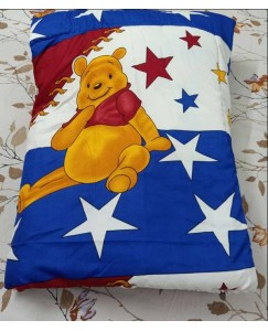 pooh Single Bed Kids Comforter, Glace Cotton