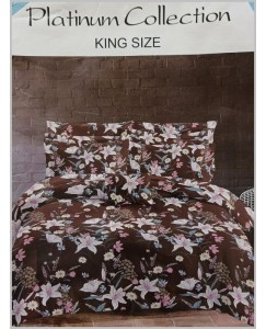 King Size Mix Cotton Double Bedsheet with 2 Pillow Covers