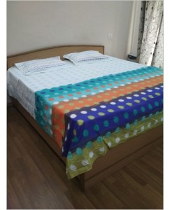 Lotus - 100% Pure Cotton Double Bedsheet with 2 Pillow Covers