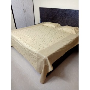Saltos Pure Cotton Double Bed Bedsheet with 2 Pillow Covers