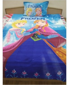 Disney Frozen Single Bedsheet with 1 Pillow Cover