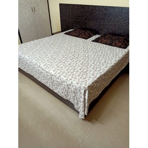 Pure Cotton Double Bedsheet with 2 Pillow Covers