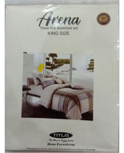 Titlis Arena Premium Double Bedsheet with 2 Pillow Covers