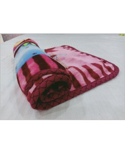 Super soft Reversible, Double Ply Baby Blanket with Zipper Bag