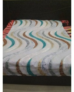 Single Bed Glace Cotton Bedsheet with 1 Pillow Cover (Multi Color Lahar)