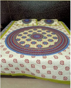Pure Cotton Single Bedsheet with 2 Pillow Covers